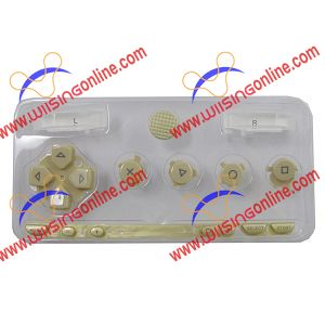 PSP 1000 Faceplate Button Set Gold PSP 1000 Repair Parts