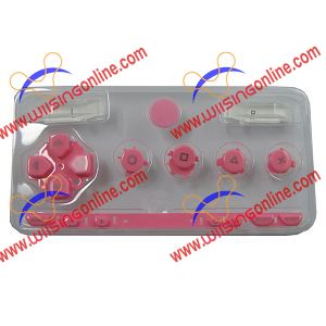 PSP 1000 Faceplate Button Set Pink PSP 1000 Repair Parts
