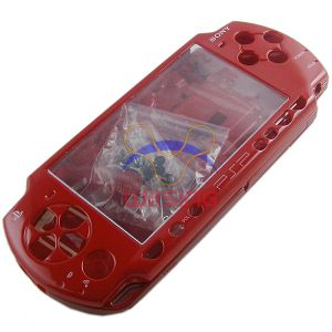 PSP 2000 Housing Shell Case with Button Set (Red)