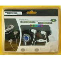 Sony PSP 2000 Skype Headphones With Microphone white And Black