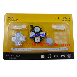 Repair Parts Replacement Buttons for PSP Slim/2000 (Light Blue)