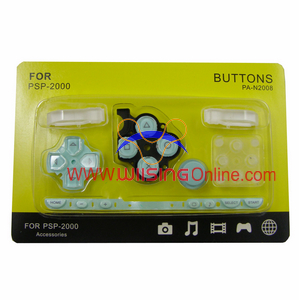 Repair Parts Replacement Buttons for PSP Slim/2000 (Light Green)