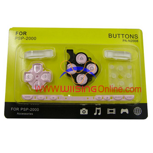 Repair Parts Replacement Buttons for PSP Slim/2000 (Pink)