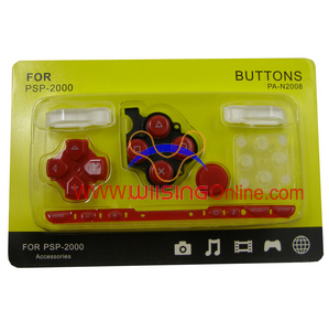 Repair Parts Replacement Buttons for PSP Slim/2000 (Red)