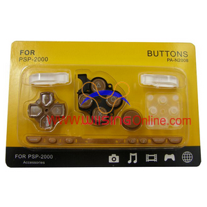 Repair Parts Replacement Buttons for PSP Slim/2000 (Brown)