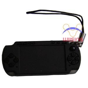 Silicon Decorated pendant-miniature PSP console black colour
