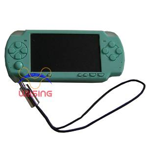 Silicon Decorated pendant-miniature PSP console green colour