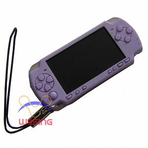 Silicon Decorated pendant-miniature PSP console purple colour