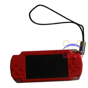 Silicon Decorated pendant-miniature PSP console red colour