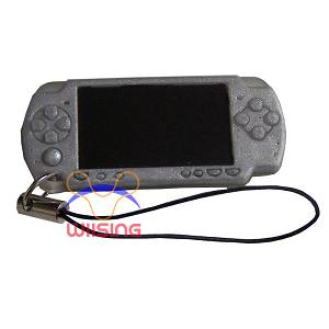 Silicon Decorated pendant-miniature PSP console silver colour