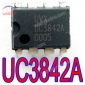 10 PCs Fairchild UC3842A Current Mode PWM Controller 8-DIP