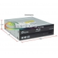 Plextor PX-B310SA 6X Blu-ray Disc Combo BD-ROM Player 16X Super Multi DVD CD RW Writer Internal SATA Drive
