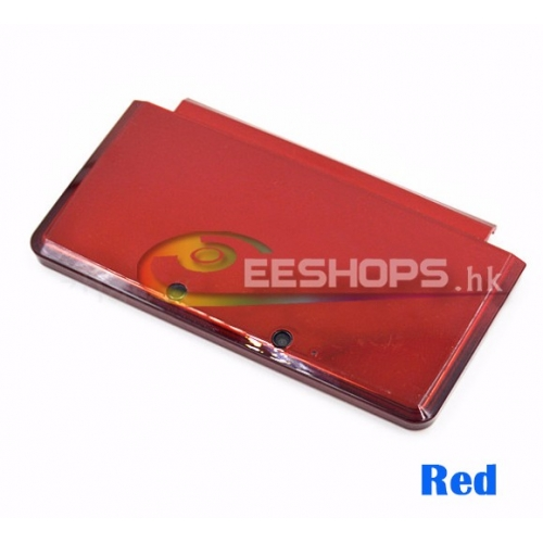 Best Genuine Top Up Upper Housing Case Shell A Face for Nintendo 3DS Handheld Game Console Replacement Spare Part Red Color Free Shipping