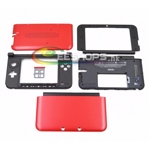 Cheap New Genuine Outer Casing Case Housing Shell Enclosure US Red for Nintendo 3DS XL 3DSXL Handheld Game Console Replacement Repair Parts