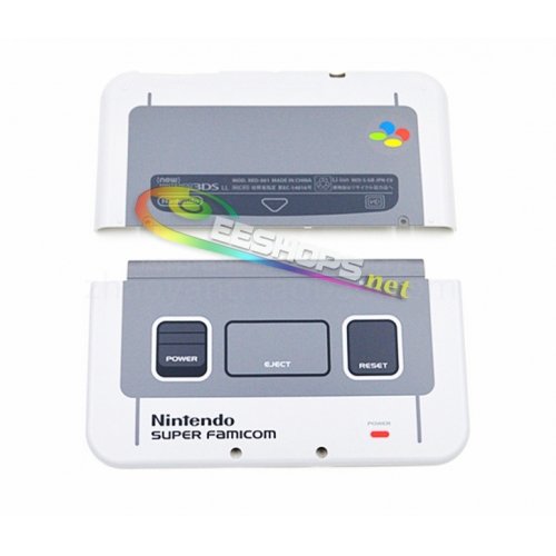 Genuine Top Surface Cover Upper Shell Case + Battery Door for Nintendo New 3DS New3DS XL Japan Super Famicom SFC Limited Edition Replacement
