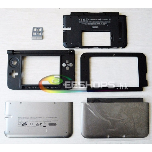 Cheap 100% New Offical Outer Casing Case Housing Shell Enclosure Silver for Nintendo 3DS XL LL 3DSXL 3DSLL Game Console Replacement Repair Part