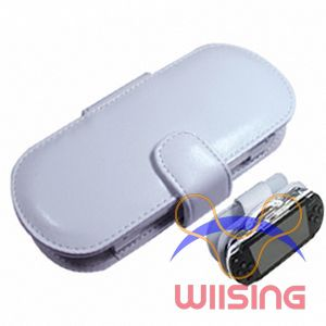 Horizontal - Leather Pouch for PSP (White)